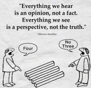 It is About Perspective
