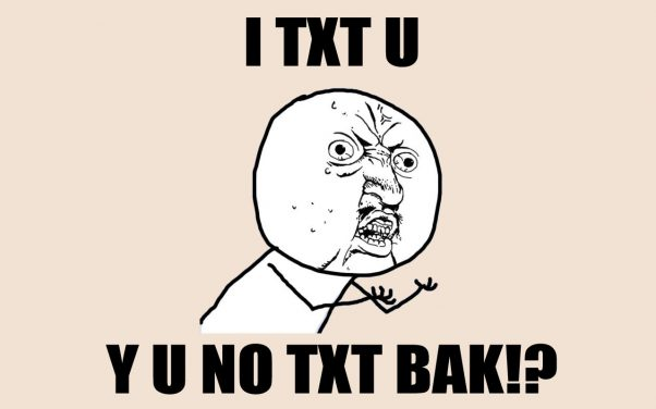 About texting